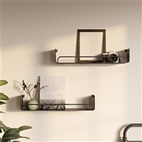 "7739 - Syler Modern Wall Shelf (Set of 2) - 28"" Black"