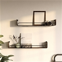 "7746 - Syler Modern Wall Shelf (Set of 2) - 34"" Black"