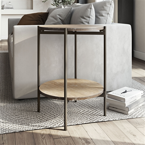 7777 - Kamryn Modern Accent Table - Tan/Brown