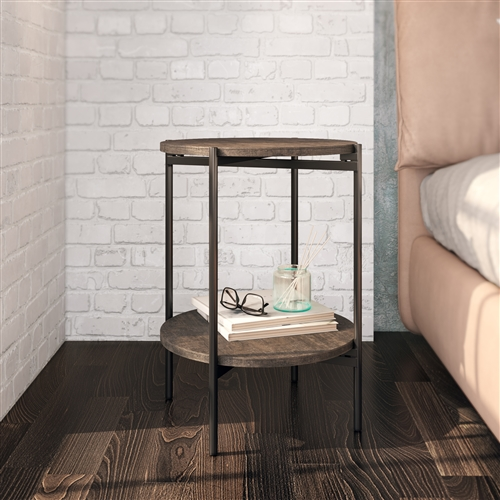 7784 - Kamryn Modern Accent Table - Gray/Black