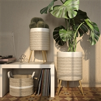 7951 - Jessa Modern Planters (Set of 2)