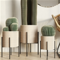7968 - Haven Modern Basket Planters (Set of 3)
