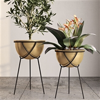 7999 - Harper Gold Planters (Set of 2)