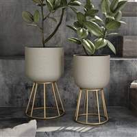 8019 - Reverie Modern Planters (Set of 2)