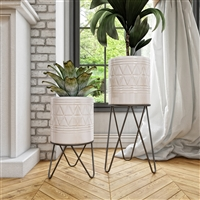 8064 - Shiloh Tall Modern Planters (Set of 2)