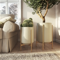 8071 - Juniper Large Modern Planters (Set of 2)