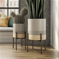 8088 - Mason Industrial Modern Planters (Set of 2)
