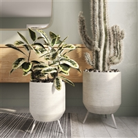 8101 - Lyra Large Modern Planters (Set of 2)