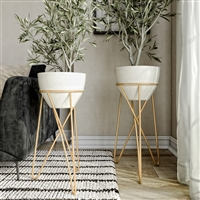 8187 - Skye Modern Raised Planters (Set of 2)
