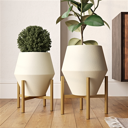 8194 - Wilder Mid Century Modern Planters (Set of 2)