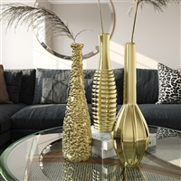 9398 - Tianna Gold Vases (Set of 3)