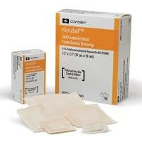 Kendall AMD Antimicrobial Foam Border Dressings - 3.5 x 3.5