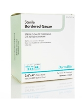 Gauze Bordered Adhesive Dressing