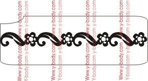 Elegant Flower and Loop Border Stencil for Glitter Tattoos