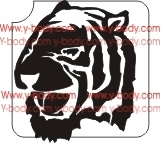 Tiger Head Glitter Tattoo Stencil