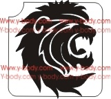 lion head glitter tattoo stencil