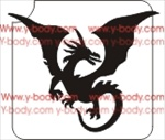 Flying Dragon Glitter Tattoo Stencil