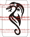 Tribal Dragon Glitter Tattoo Stencil