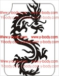 chinese dragon glitter tattoo stencil