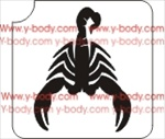 Scorpio Scorpion Zodiac Stencil for Glitter Tattoos