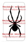 black widow spider Glitter tattoo stencil, Temporary tattoos, Henna Tattoos, Airbrush Tattoo Stencil,