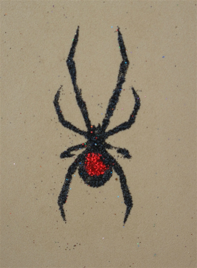 b57d60185 Black Widow Stencil: Spider for Temporary Tattoos