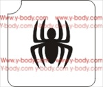 Spider Glitter tattoo stencil, Temporary tattoos, Henna Tattoos, Airbrush Tattoo Stencil,