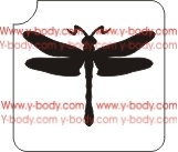 dragonfly stencil for glitter tattoos