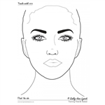 Sally-Ann Lynch Face painting Practice board - Sheet Size adult Face