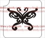 Butterfly Glitter tattoo stencil, Temporary tattoos, Henna Tattoos, Airbrush Tattoo Stencil,
