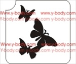 butterfly trio for temporary glitter tattoos