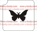 Simple Butterfly Glitter tattoo stencil, Temporary tattoos, Henna Tattoos, Airbrush Tattoo Stencil,
