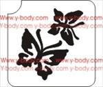 Butterfly Duo Temporary Stencil for Body Art