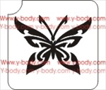 Glitter tattoo stencil, Temporary tattoos, Henna Tattoos, Airbrush Tattoo Stencil,