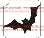 flying bat glitter tattoo stencil