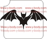 halloween bat glitter tattoo stencil