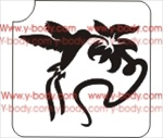hummingbird and flower stencil Glitter tattoo stencil, Temporary tattoos, Henna Tattoos, Airbrush Tattoo Stencil,