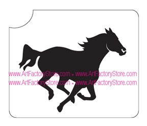 galloping horse glitter tattoo stencil