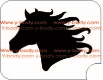 Horse Profile Glitter tattoo stencil, Temporary tattoos, Henna Tattoos, Airbrush Tattoo Stencil,