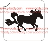 Running Horse Glitter tattoo stencil, Temporary tattoos, Henna Tattoos, Airbrush Tattoo Stencil,