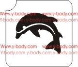 Jumping Dolphin Glitter tattoo stencil, Temporary tattoos, Henna Tattoos, Airbrush Tattoo Stencil,