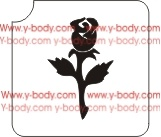 Single Rosebud Glitter tattoo stencil, Temporary tattoos, Henna Tattoos, Airbrush Tattoo Stencil,