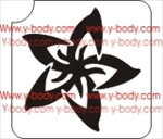 Plumeria Flower Glitter Tattoo Stencil, Henna Tattoos, Temporary Tattoos, Glimmer Tattoo store, Airbrush Tattoos