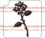 perfect rose glitter tattoo stencil for temporary tattoos and body art