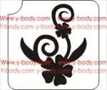 Flower & Leaf Detail Adhesive Stencil for Face & Body Art