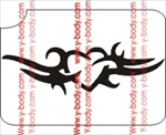heart deco tribal glitter tattoo stencil