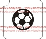 soccer ball glitter tattoo stencil