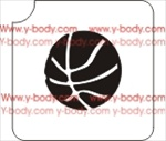 basketball glitter tattoo stencil