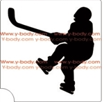 Hocky Player  glitter tattoo stencil