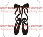 Ballet Shoes Glitter tattoo stencil, Glimmer tattoos, Airbrush Tattoo Stencil, Henna Tattoos,